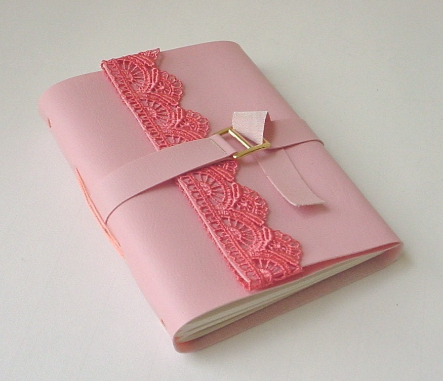 Vegan Pink Faux Leather Journal/Notebook-Mother's Day Bridesmaid Gift Suggestion