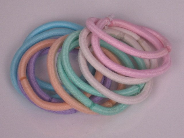 ponytail holders for thick hair. Thick Pastel Ponytail Holders
