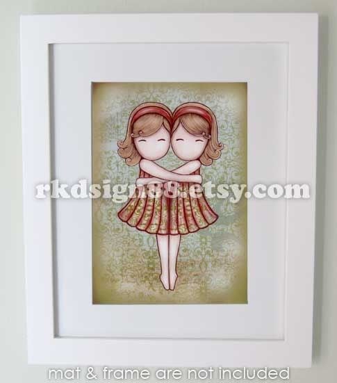 rkdsign88.blogspot.com etsy mother day girl cute children painting fun illustration nursery drawing art print cute whimsical reproduction boys elephant