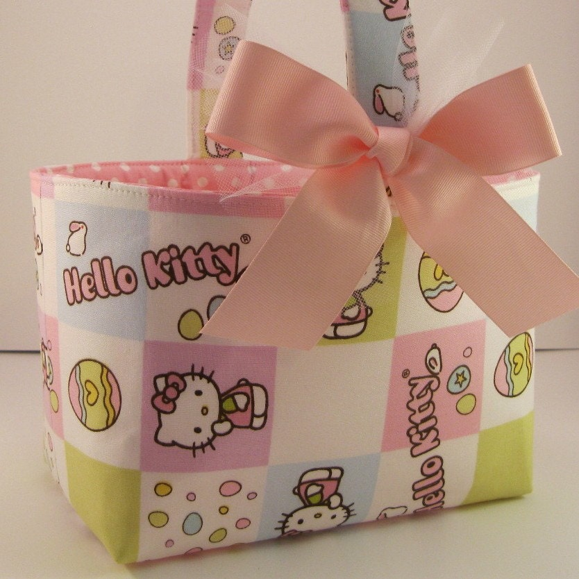 Hello Kitty Easter Basket. Easter Fabric Basket - Hello