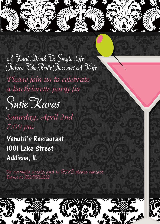 Invitation Bachelorette Party  Halloween Bachelorette Party