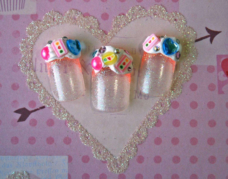 japanese nail art  candy girl