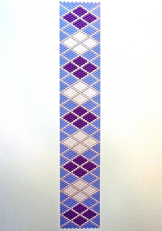 purple white argyle peyote stitch beading pattern fotofuze