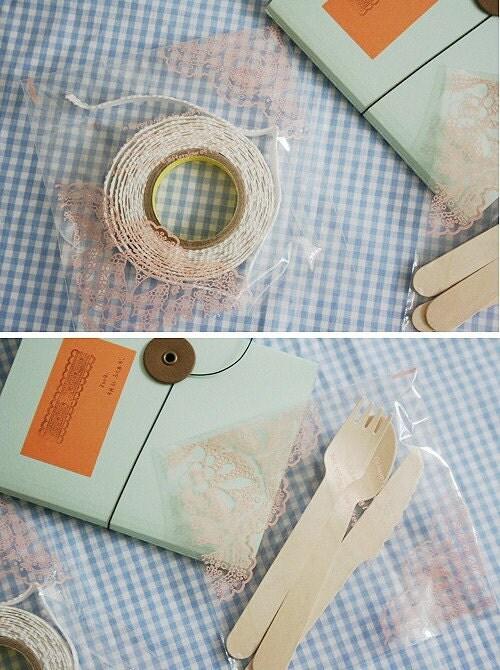 Pink Doily Printing Opp Self Sealing Bags