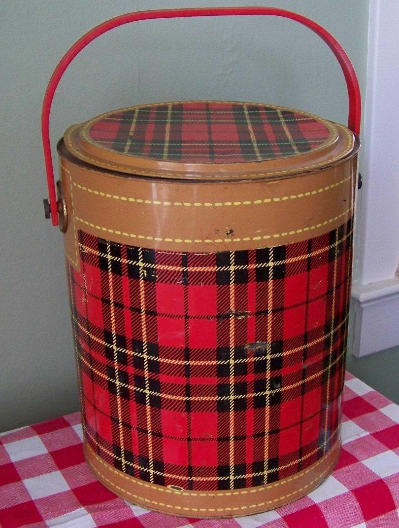 Fs Vanfest Vintage Scotch Plaid Tartan Coolers Camp Chairs