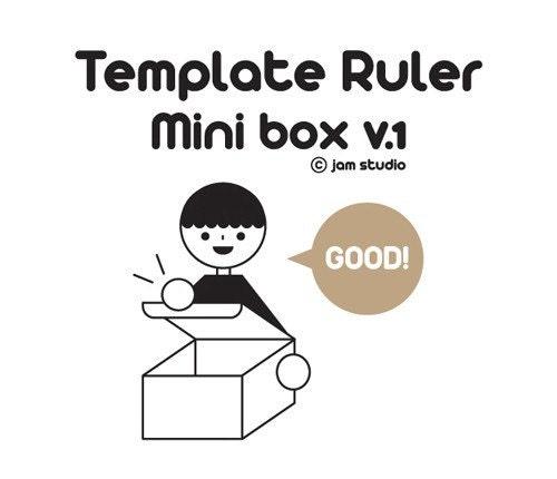 Mini Box Template Ruler ver.1