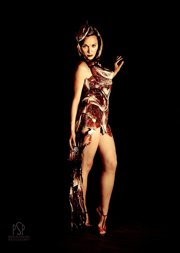 lady gaga meat dress costume. Lady Gaga Meat Dress costume