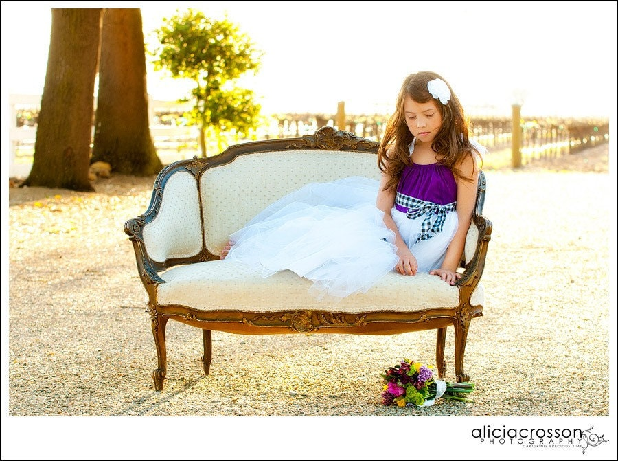 Purple Dress Purple Wedding Flower Girl Dress Formal Dress Birthday