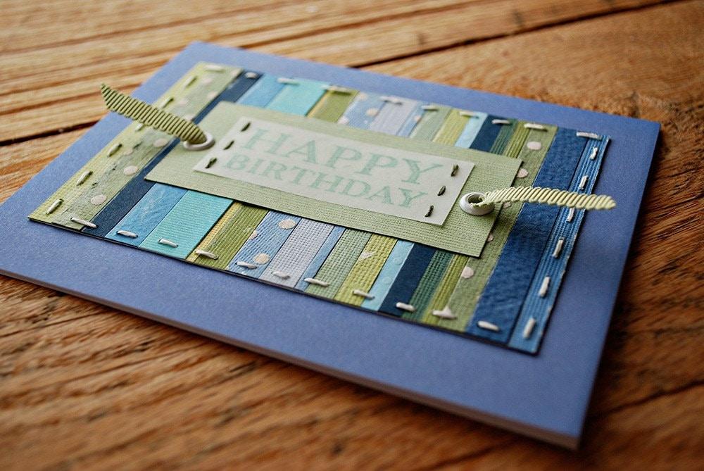 birthday cards for men handmade. handmade birthday card blue