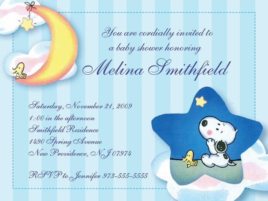 Baby Shower Invitation: Snoopy Baby Shower Invitations Templates
