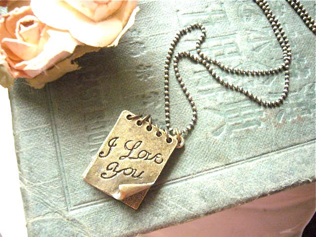 I Love You Notebook. Notebook, I Love You Charm Necklace. From ninexmuse