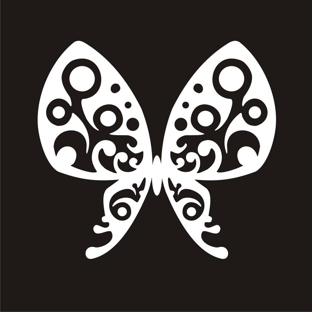 Butterfly Sticker, Tribal