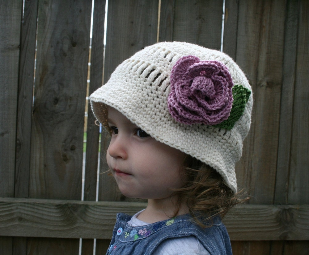 Crochet PATTERN pdf file Summer Sun Hat baby to by monpetitviolon