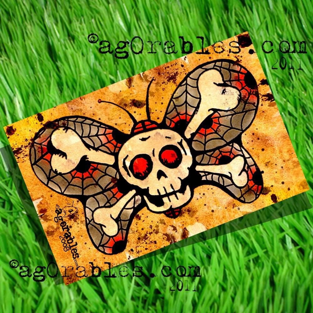 Bones ButterFly WaLLet Old