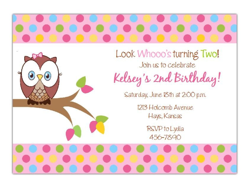 Owl Look Whoos Turning One Birthday Party Invitation