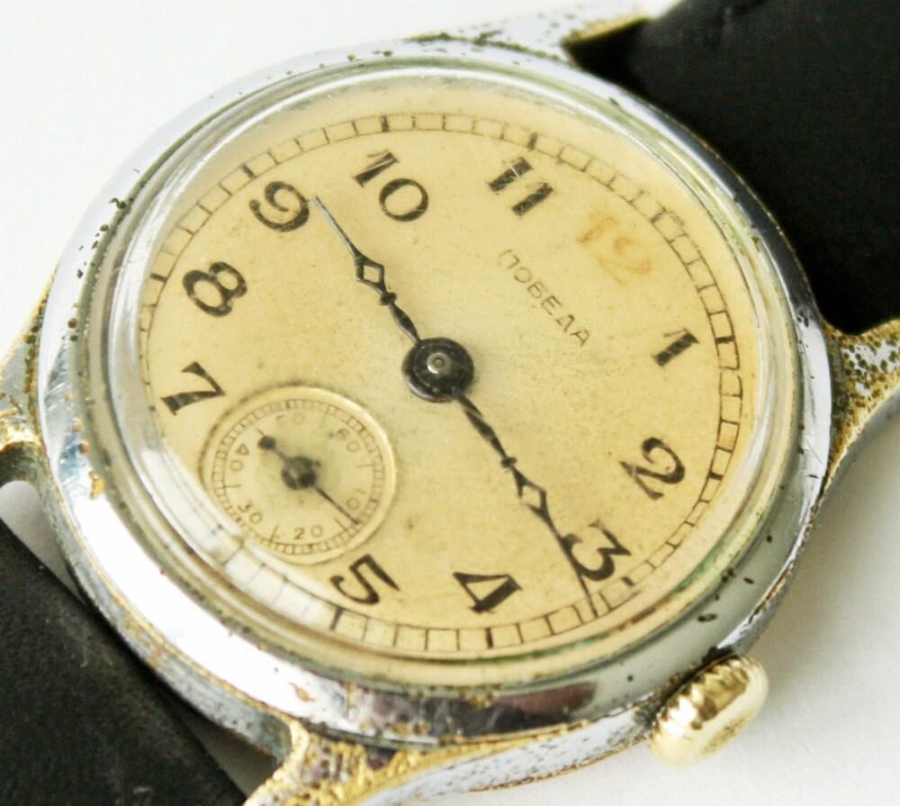 RAREST Old soviet POBEDA watch