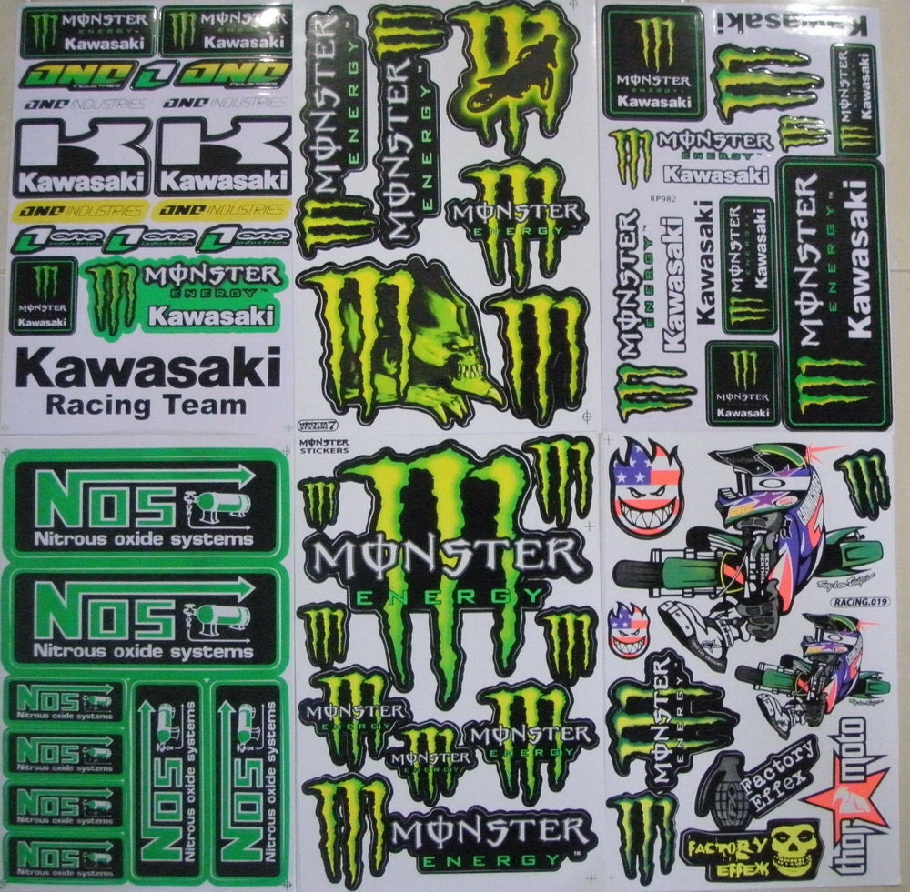Monster Energy Racing Decals