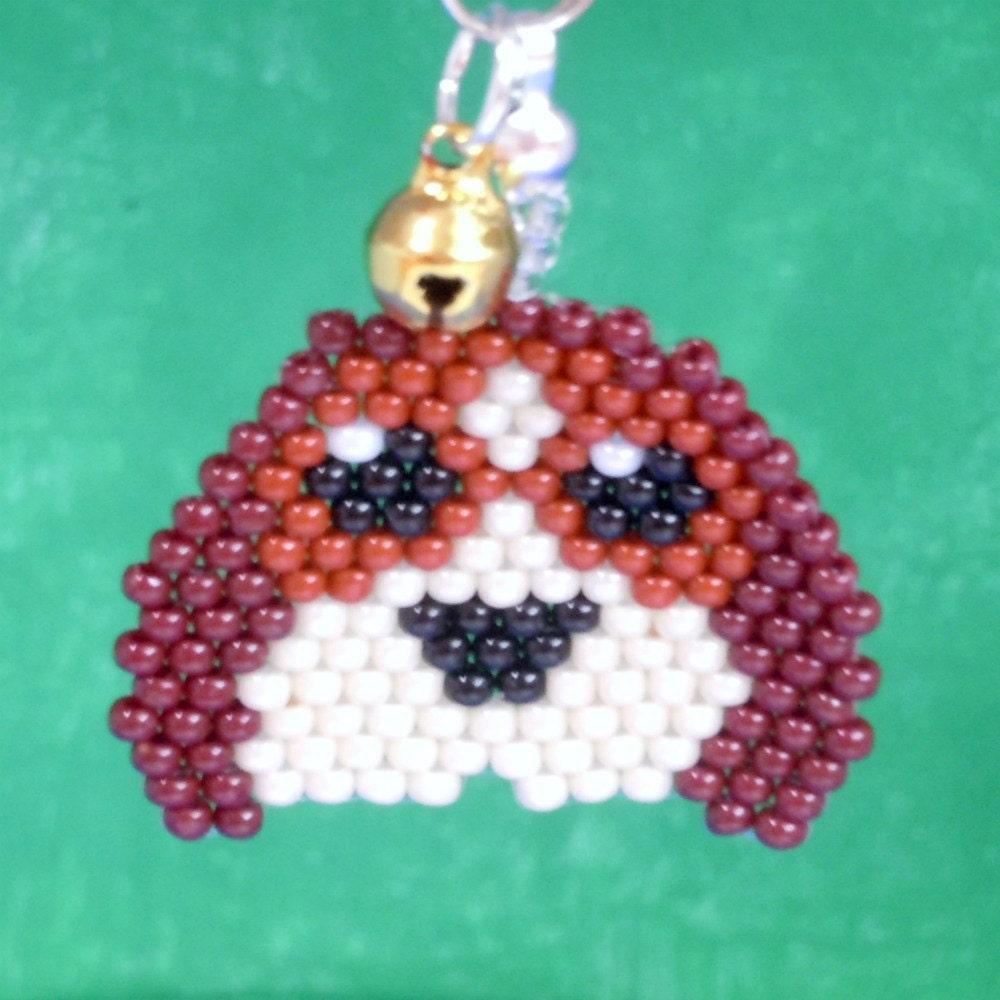 handmade crafts sweet beagle seed bead charm