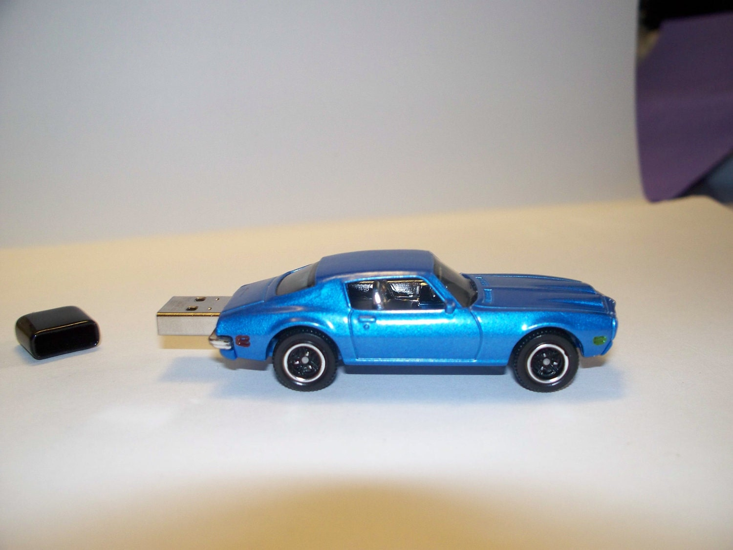 4GB 1971 Pontiac Firebird blue 4gb USB Flash Drive car Free Shipping