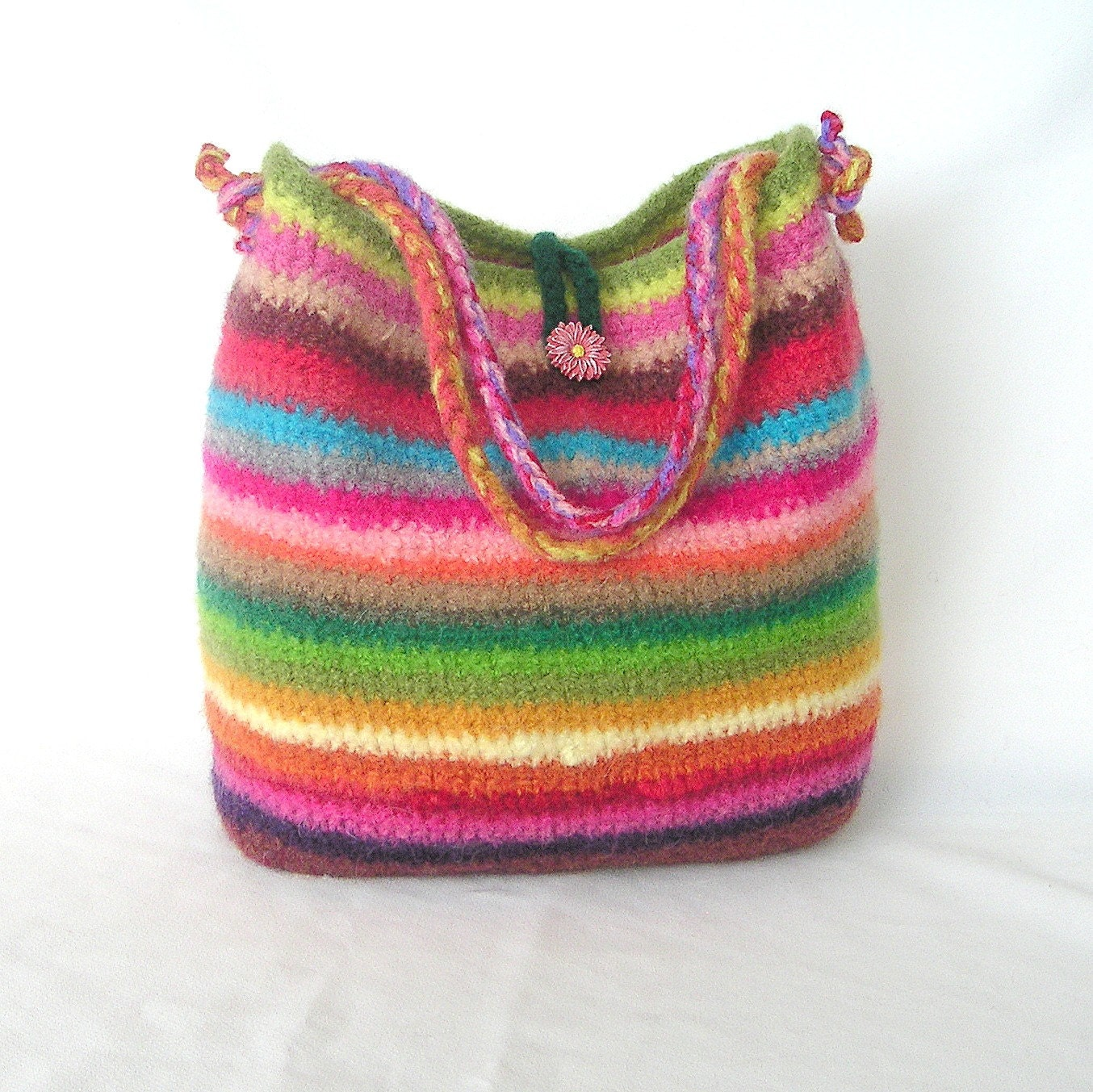 Felted Bowling Bag Purse