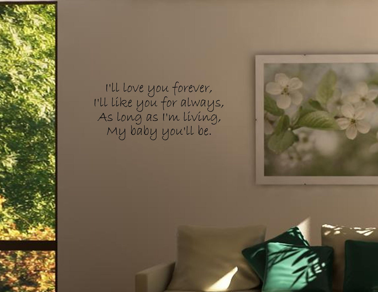 Vinyl wall quotes decals I'll love you forever I'll like you for ...