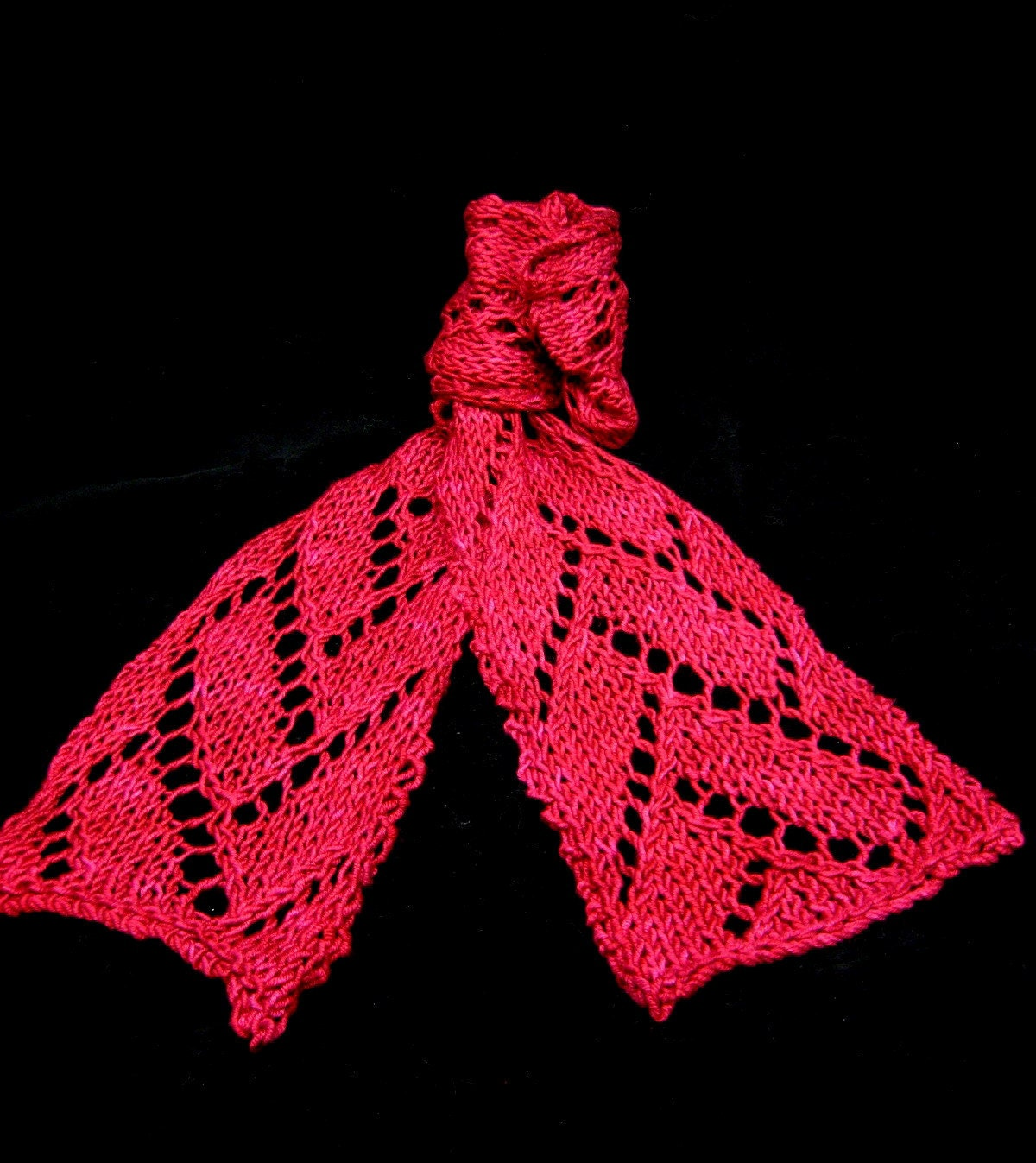 Flemish Block Lace in Rubies Silk Wool by RShalhoub1 on Etsy