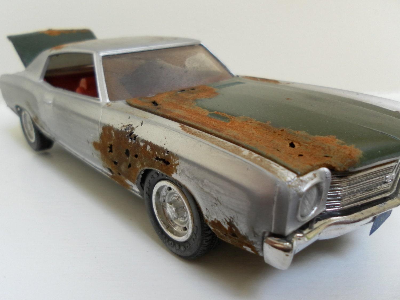 scale model car in silver