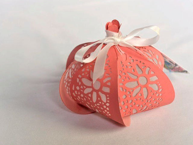 Floral Paper lantern table decorations wedding favour candle handmade made