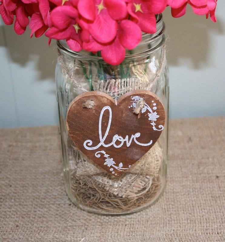 Rustic heart wedding decorations