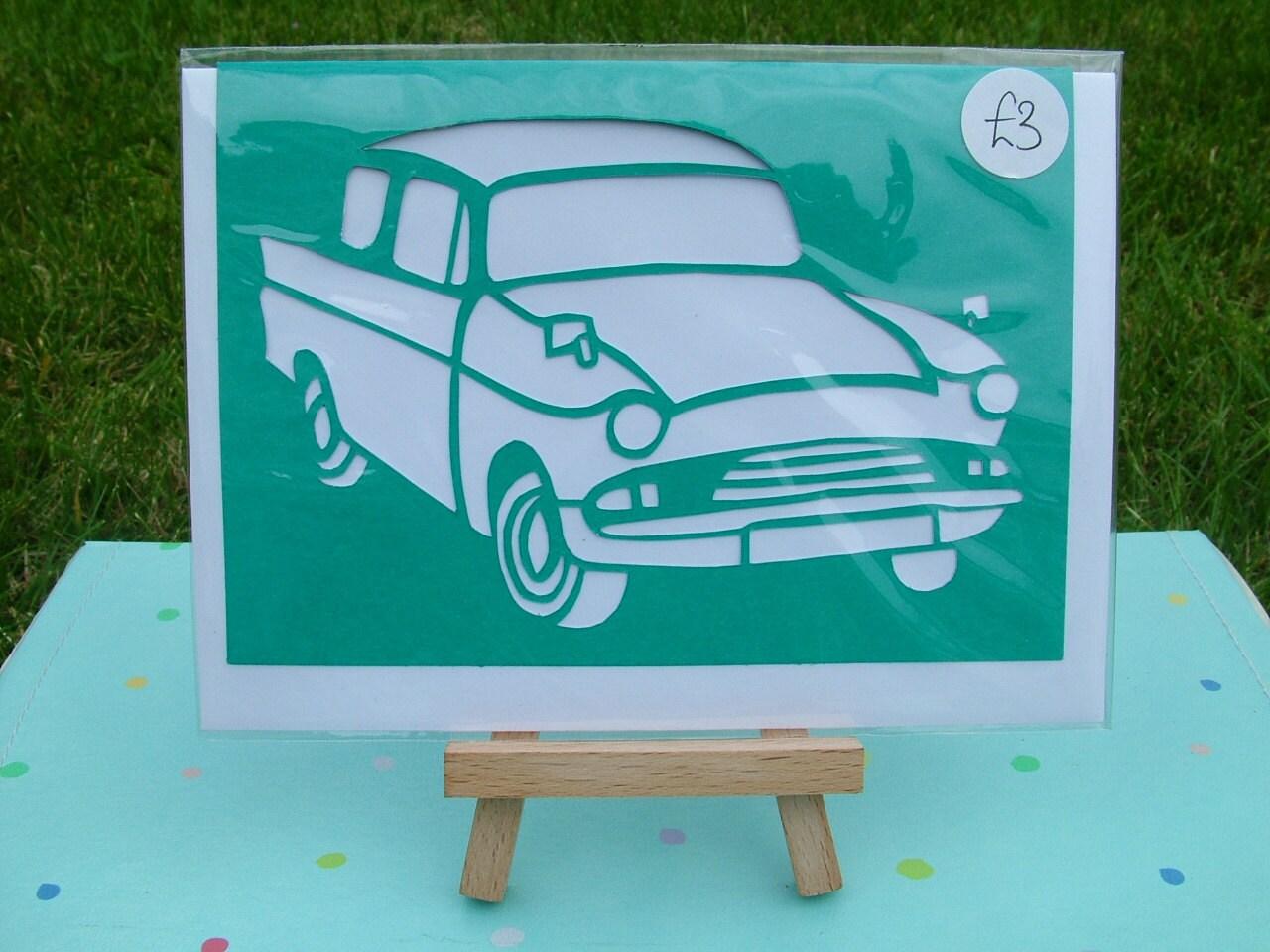 Turquoise Hand Cut Papercut