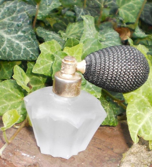 vintage hand blown perfume atomizer free ship