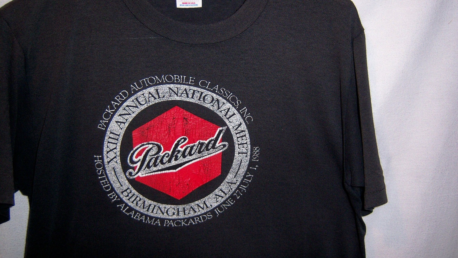 Vintage 1988 PACKARD Automobile Classics shirt. From thriftdeal