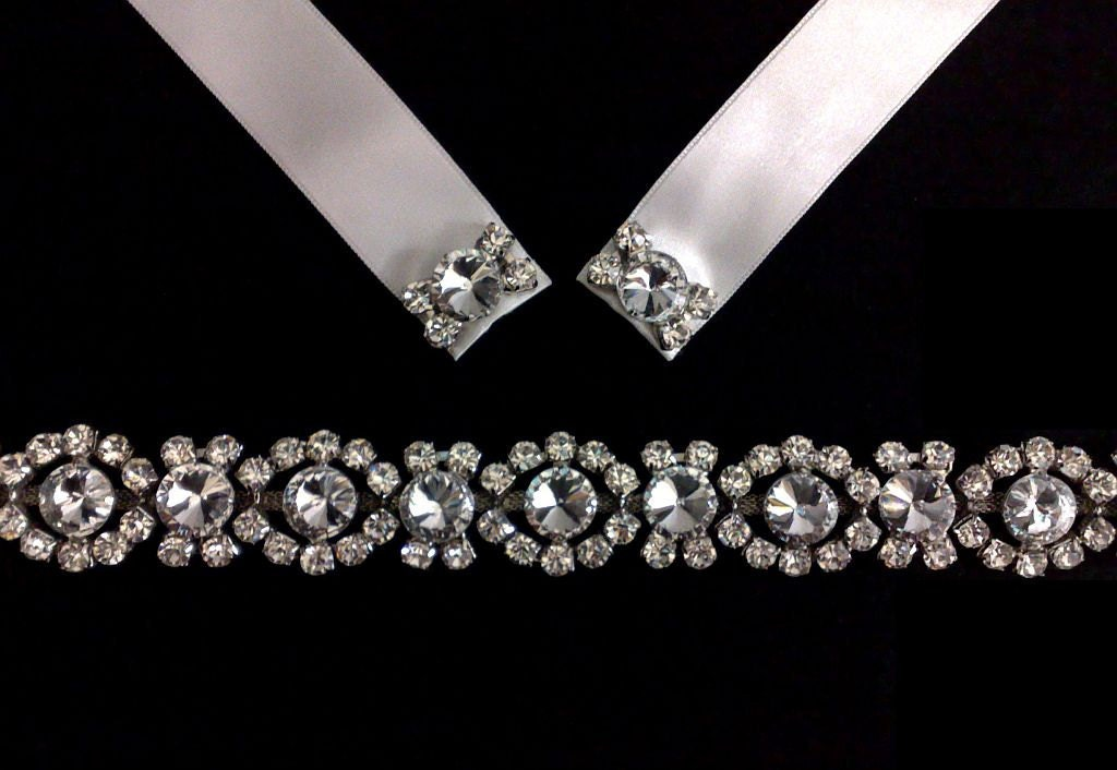 Art Deco 1920s Wedding Hair Jewelry Bridal Crystal Headband Vintage Style
