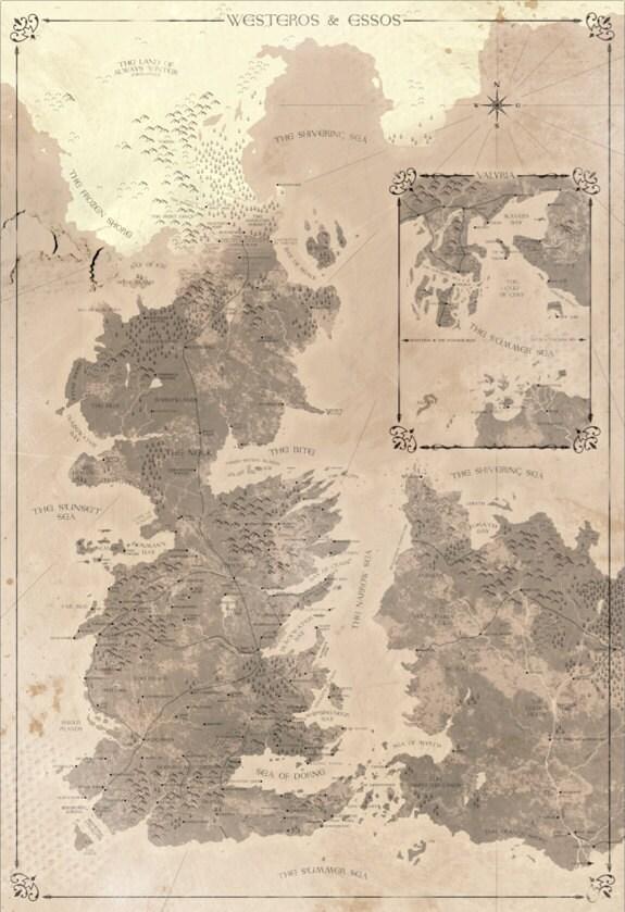 carte Westeros