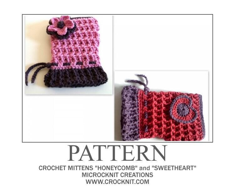 Nine Different Crochet Patterns Fingerless Mittens: Sharon