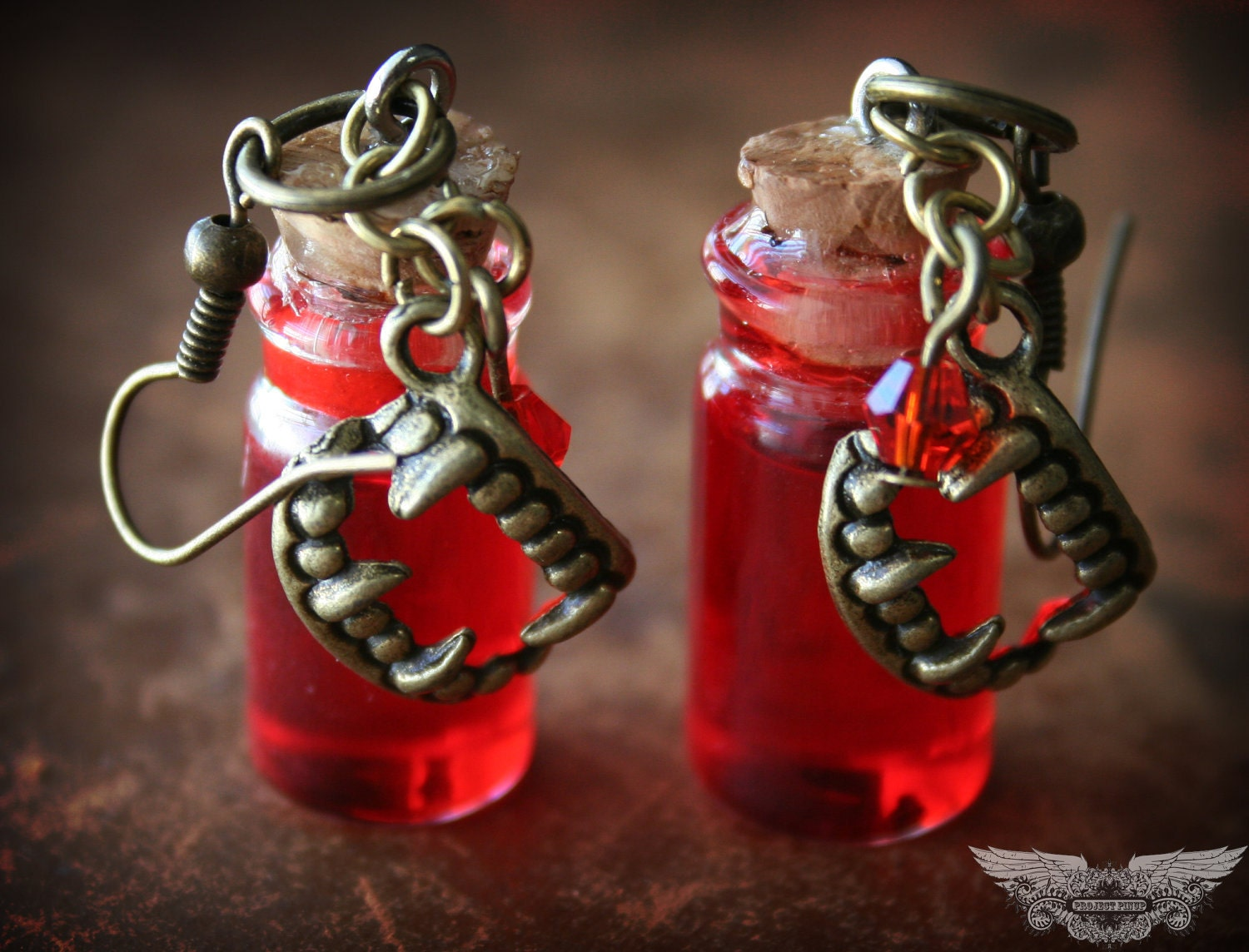 True blood inspired vial earrings