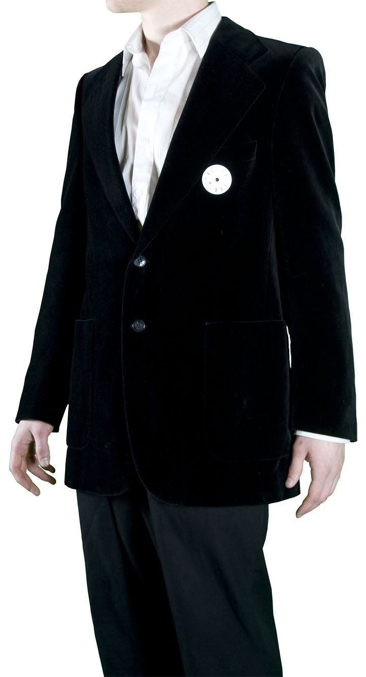 Dorian Gray inspired Yves Saint Laurent upcycled black velvet jacket