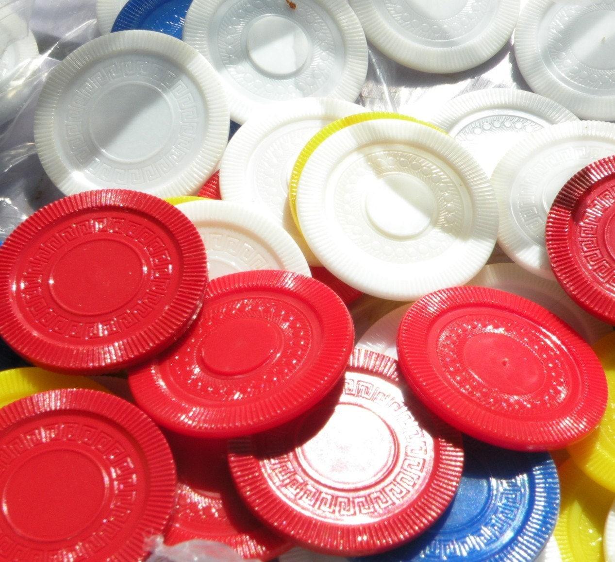 Retro poker chips