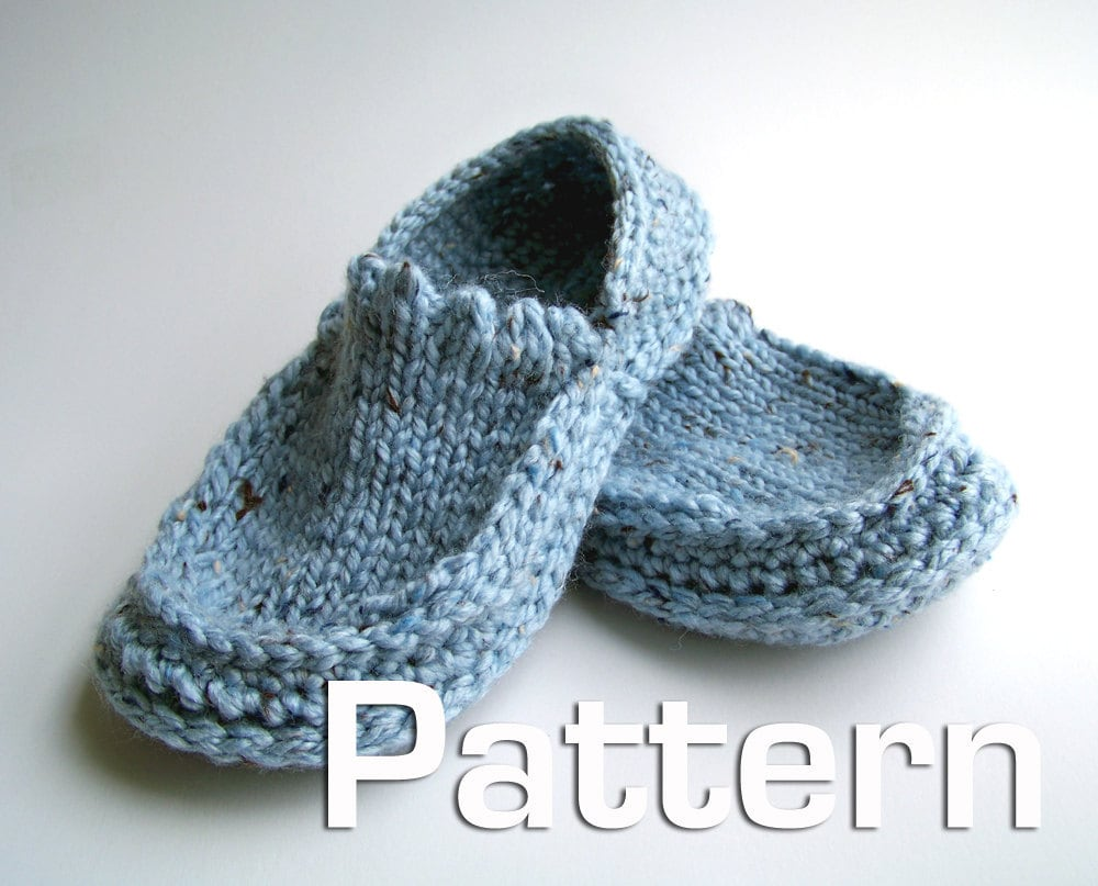 Free Knitting Pattern For Knitted Slippers : SLIPPER PATTERNS FOR KNITTING   Free Patterns