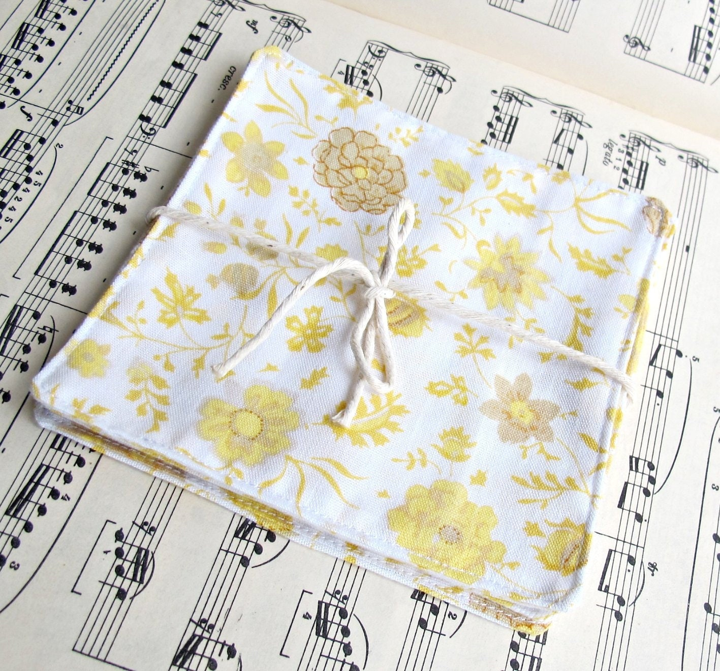 image vintage cocktail napkin set bed linen hannah domum vindemia yellow floral