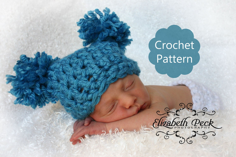 Crochet Pattern Central Baby Hats : CROCHET HAT PATTERN POMPOM - Crochet Club
