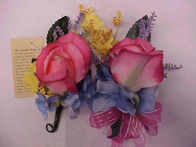 Set of 4 Hot Pink Rose Wedding Boutonnieres for Groom Usher Best Man