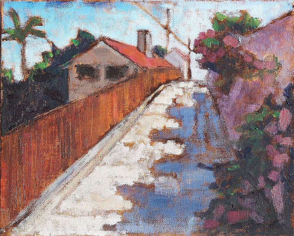 San Diego Urban Landscape Painting