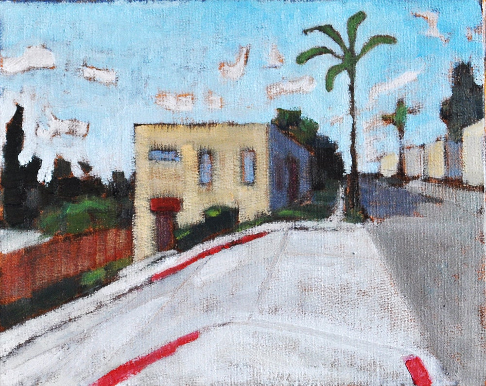 Original Oil Painting of Hillcrest, San Diego