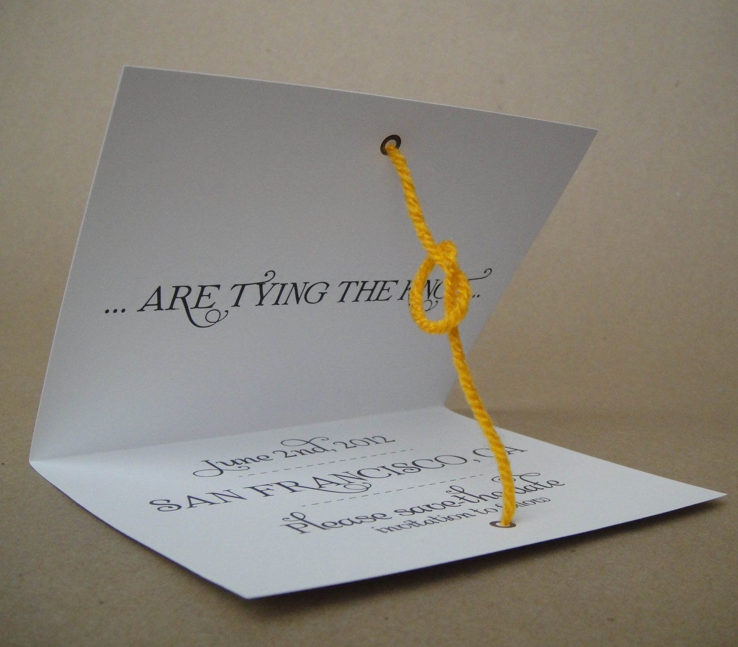 Free tying the knot save the date template
