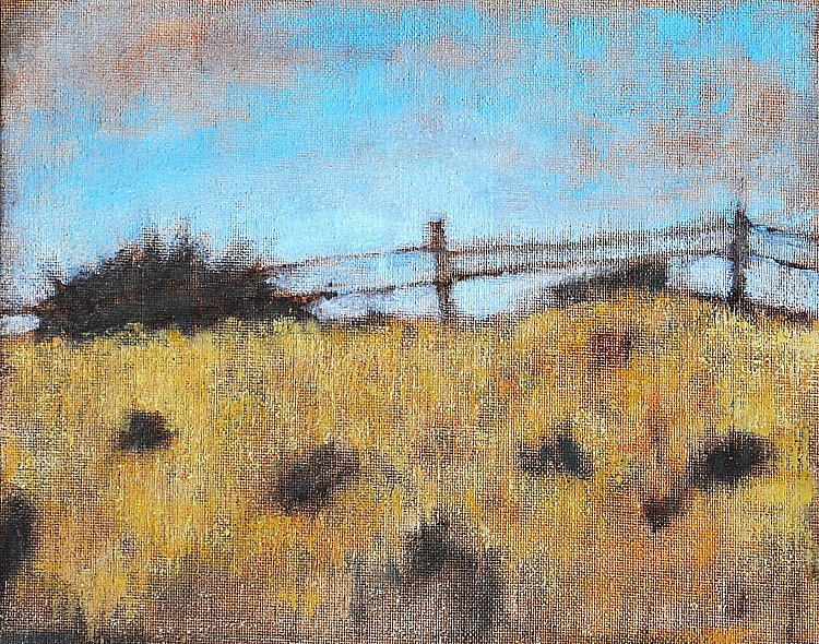 California countryside original oil painting