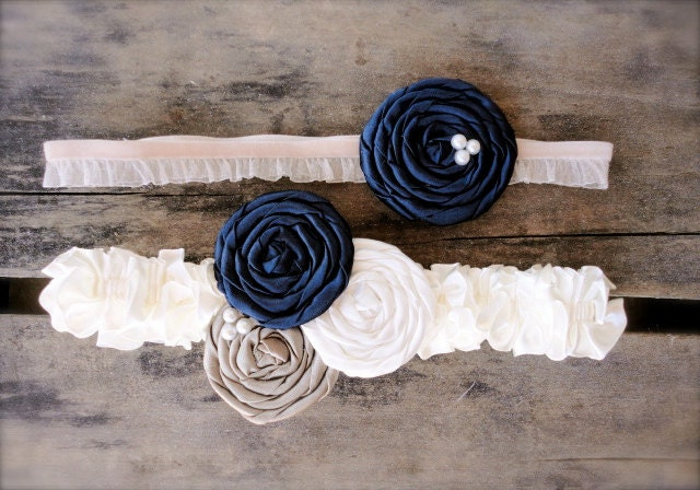 champagne and navy blue wedding