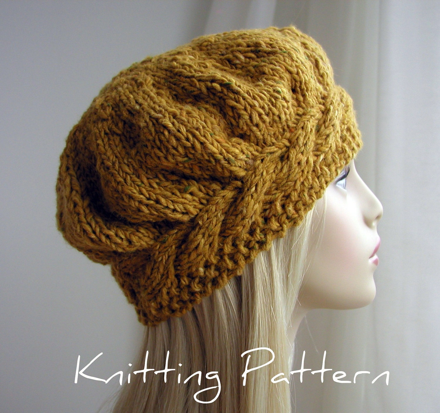 Knitting Hat Free Pattern : KNIT PATTERNS BERET   Free Patterns