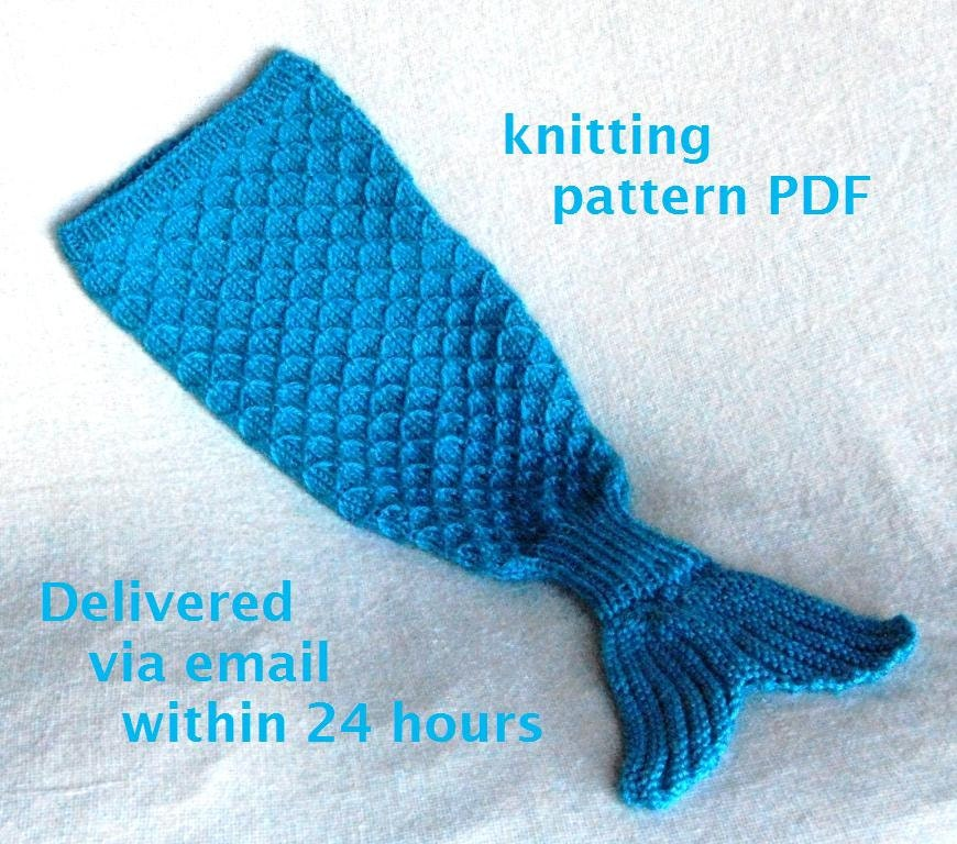 Knitting Pattern For Baby Mermaid Blanket : DIY Baby Tail THE HANKERER