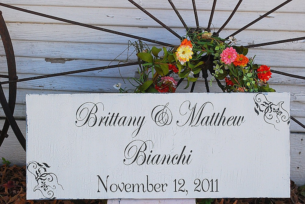 CUSTOM Wedding signs Wedding Decorations Gift Home Decoration Anniversary